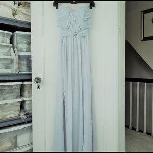 Powder blue chiffon gown